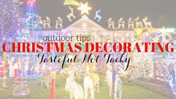 Tasteful Outdoor Christmas Decorating
